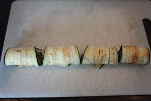 Involtini met aubergine en spinazie