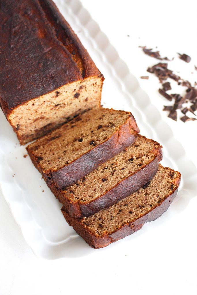 Bananencake met chocola, glutenvrij