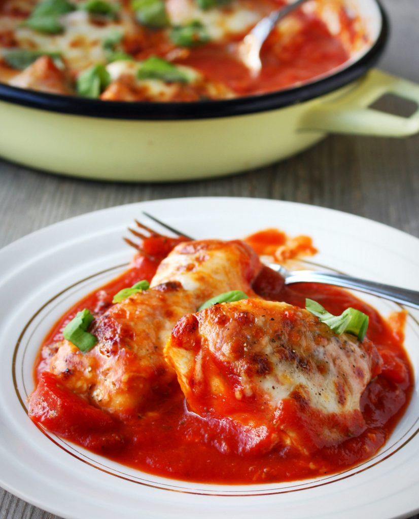 Kip met mozzarella