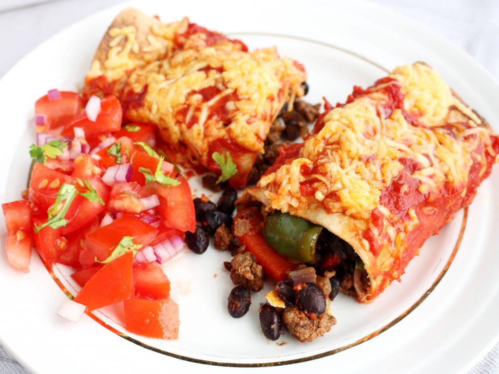 Enchilada's met tartaar