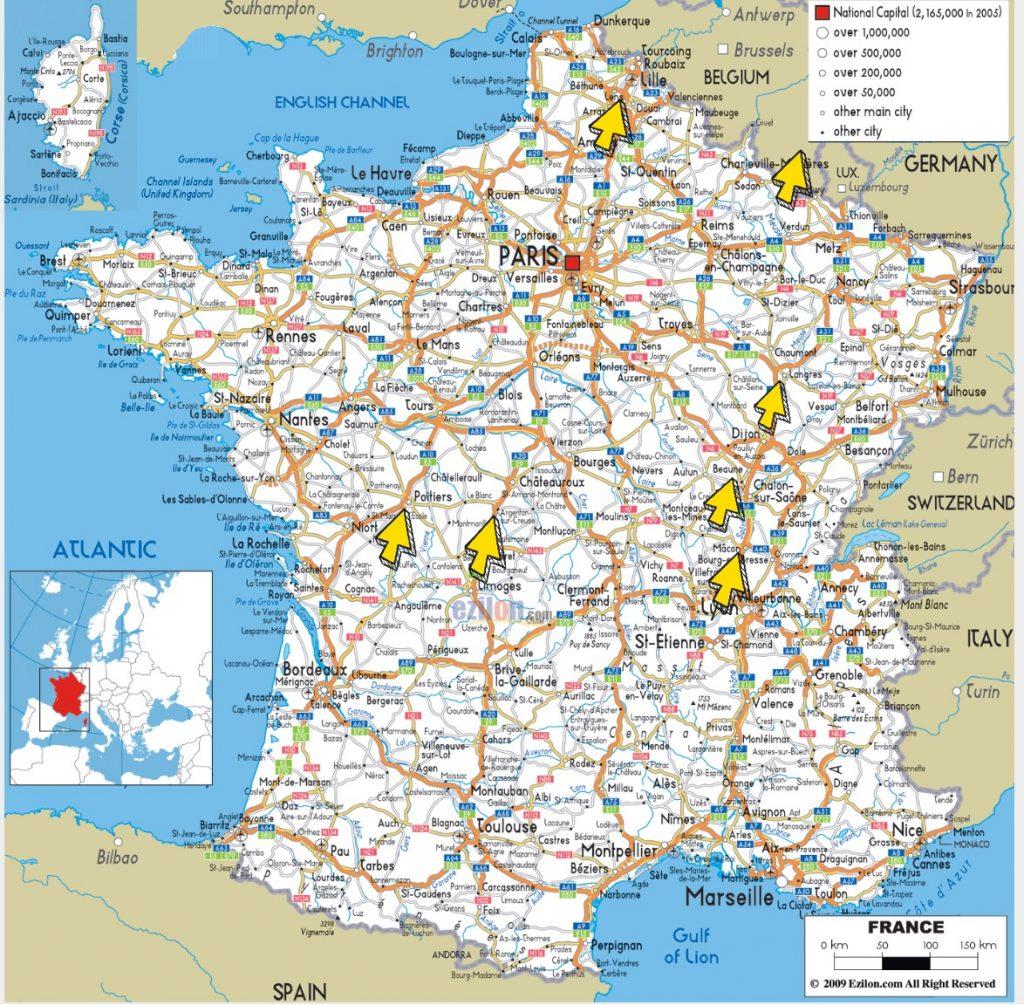Eten onderweg Frankrijk