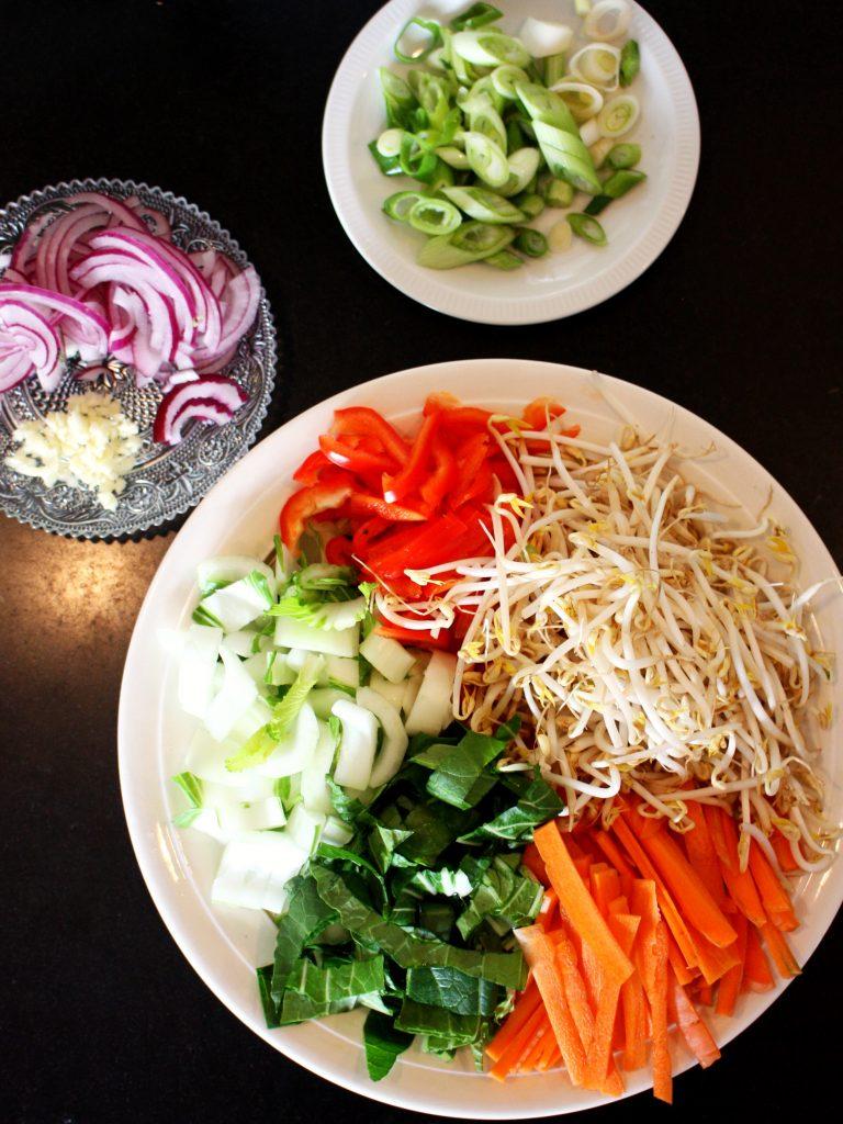 Groenten noodles