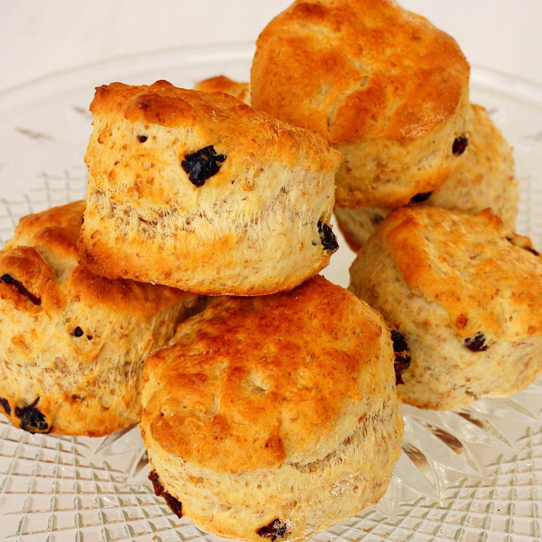 Volkoren scones met cranberries