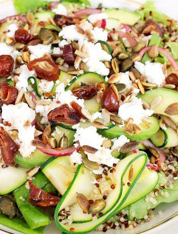 Quinoa salade met courgette en geitenkaas