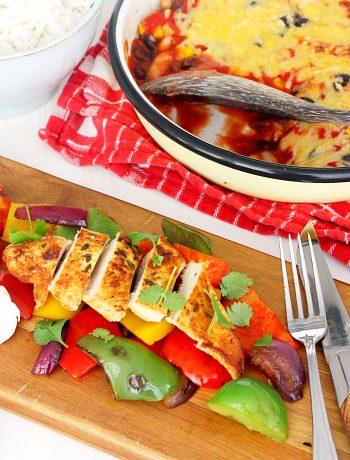 Mexicaanse kip met ponen en paprika