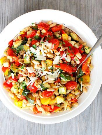 Gegrilde groenten salade
