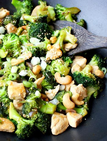 Kip broccoli cashewnoten