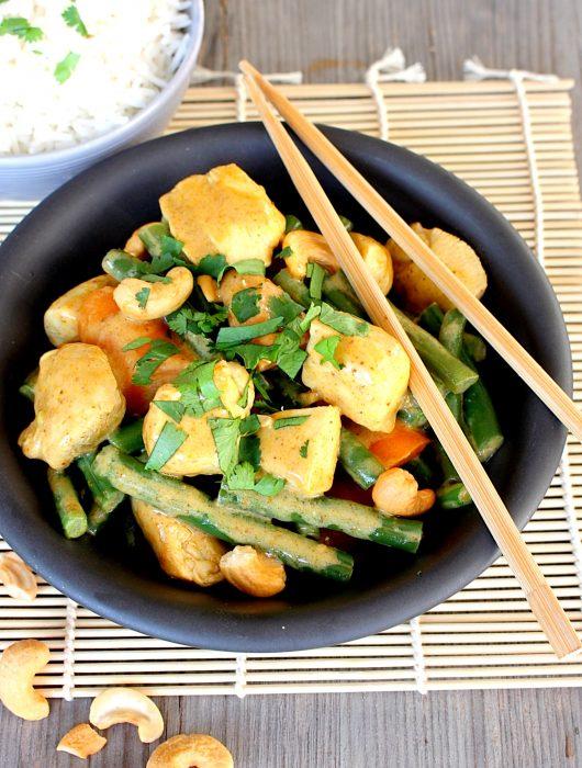 Milde Indiase Curry met kip en pompoen