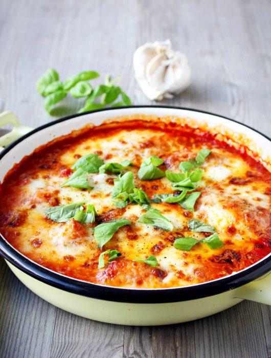 Kip met mozzarella uit de oven