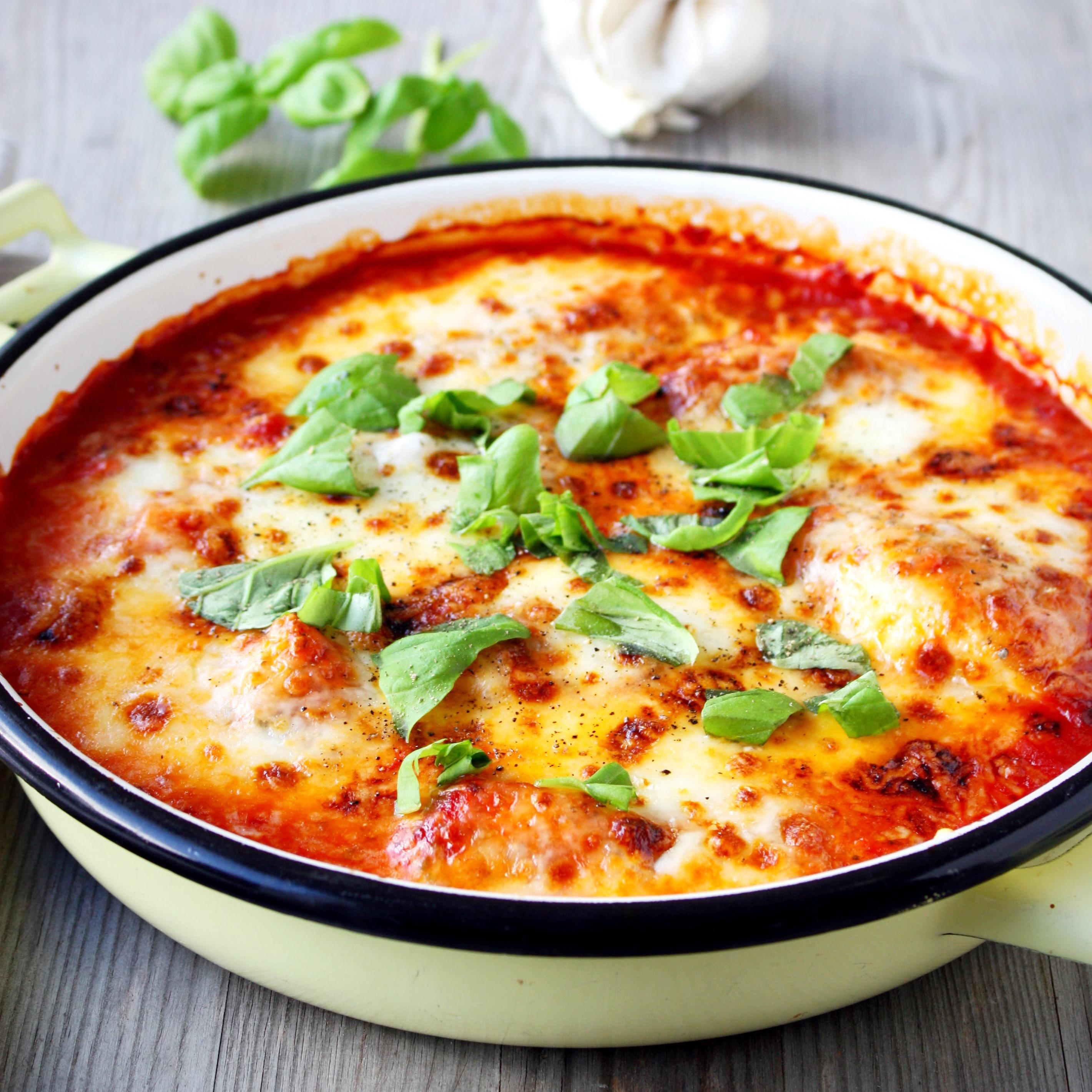 Uit de oven: Kip met mozzarella