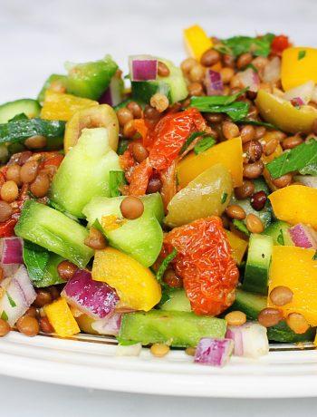 Foto van linzensalade met recept